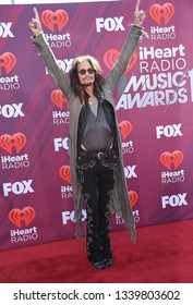 LOS ANGELES - MAR 14:  Steven Tyler arrives for the iHeart Radio Music Awards 2019 on March 14, 2019 in Los Angeles, CA