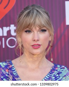 LOS ANGELES - MAR 14:  Taylor Swift arrives for the iHeart Radio Music Awards 2019 on March 14, 2019 in Los Angeles, CA