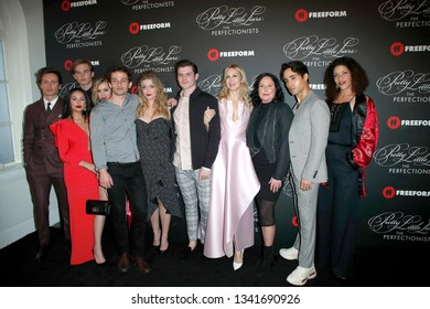"""LOS ANGELES - MAR 15:  Pretty Little Liars, cast at the """"Pretty Little Liars: The Perfectionists"""" Premiere at the Hollywood Athletic Club on March 15, 2019 in Los Angeles, CA"""
