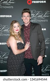 """LOS ANGELES - MAR 15:  Sasha Pieterse, Hudson Sheaffer at the """"Pretty Little Liars: The Perfectionists"""" Premiere at the Hollywood Athletic Club on March 15, 2019 in Los Angeles, CA"""