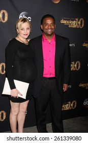"""LOS ANGELES - MAR 16:  Angela Unkrich, Alfonso Ribeiro at the """"Dancing With the Stars"""" Season 20 Premiere Party at the Hyde Sunset Kitchen & Cocktails on March 16, 2015 in Los Angeles, CA"""