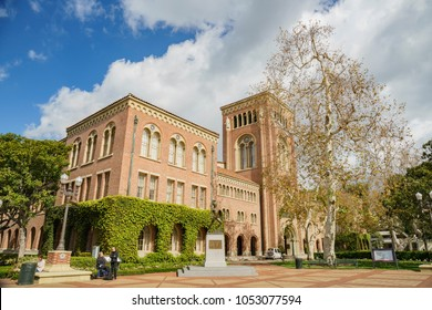 Los Angeles, MAR 16: Exterior view of the beautiful Bovard Aministration buiding in USC on MAR 16, 2018 at Los Angeles, California
