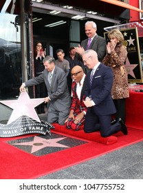 LOS ANGELES - MAR 16:  Jeff Zarrinnam, Jane Fonda, Leron Gubler, RuPaul, Leron Gubler, Mitch OFarrell at the RuPaul Star Ceremony on the Hollywood Walk of Fame on March 16, 2018 in Los Angeles, CA