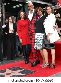 LOS ANGELES - MAR 16:  RuPaul Andre Charles, Sisters at the RuPaul Star Ceremony on the Hollywood Walk of Fame on March 16, 2018 in Los Angeles, CA