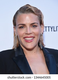 LOS ANGELES - MAR 17:  Busy Philipps arrives for the The Daily Front Row 5th Annual Fashion LA Awards on March 17, 2019 in Beverly Hills, CA