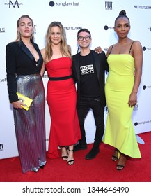 LOS ANGELES - MAR 17:  Busy Philipps, Alicia Silverstone, Christian Siriano and Janet Mock arrives for The Daily Front Row 5th Fashion LA Awards on March 17, 2019 in Beverly Hills, CA