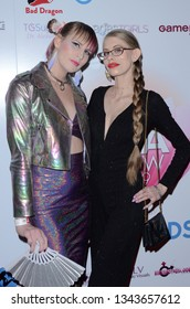 LOS ANGELES - MAR 17:  River Enza, Kyaa Chimera at the 2019 Transgender Erotica Awards TEA Show at the Avalon Hollywood on March 17, 2019 in Los Angeles, CA