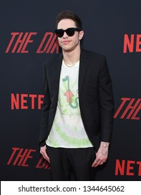 LOS ANGELES - MAR 18:  Pete Davidson arrives for the Netflix 'The Dirt' Premiere on March 18, 2019 in Hollywood, CA