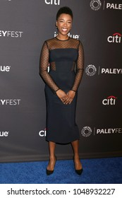 """LOS ANGELES - MAR 18:  Samira Wiley at the 2018 PaleyFest Los Angeles - """"The Handmaid's Tale"""" at Dolby Theater on March 18, 2018 in Los Angeles, CA"""