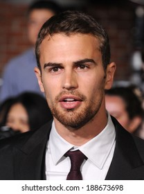LOS ANGELES - MAR 18:  Theo James arrives to the 'Divergent' Los Angeles Premiere  on March 18, 2014 in Westwood, CA