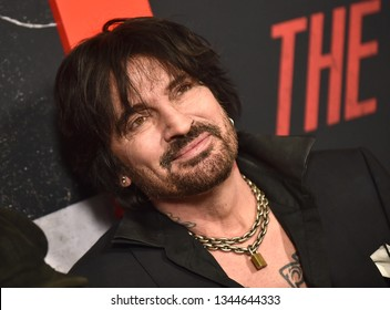 LOS ANGELES - MAR 18:  Tommy Lee arrives for the Netflix 'The Dirt' Premiere on March 18, 2019 in Hollywood, CA