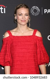 """LOS ANGELES - MAR 18:  Yvonne Strahovski at the 2018 PaleyFest Los Angeles - """"The Handmaid's Tale"""" at Dolby Theater on March 18, 2018 in Los Angeles, CA"""