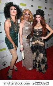 """LOS ANGELES - MAR 19:  Manila Luzon, Morgan McMichaels, Phoebe Price at the """"Looking"""" Season 2 Finale Screening and Party at the Abbey on March 19, 2015 in West Hollywood, CA"""