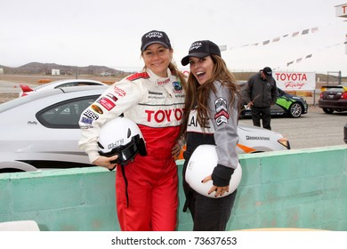 LOS ANGELES - MAR 19:  Megyn Price, Jillian Barberie Reynolds at the Toyota Pro/Celebrity Race Training Session at Willow Springs Speedway on March 19, 2011 in Rosamond, CA