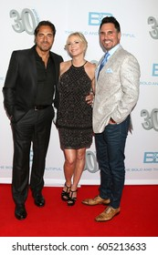 """LOS ANGELES - MAR 19:  Thorsten Kaye, Katherine Kelly Lang, Don DIamont at the """"The Bold and The Beautiful"""" 30th Anniversary Party at Clifton's Downtown on March 19, 2017 in Los Angeles, CA"""