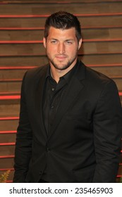 LOS ANGELES - MAR 2:  Tim Tebow at the 2014 Vanity Fair Oscar Party at the Sunset Boulevard on March 2, 2014 in West Hollywood, CA