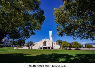 Los Angeles, MAR 20: Church of the Loma Linda University on MAR 20, 2019 at Los Angeles, California