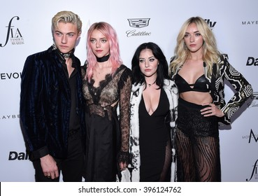 LOS ANGELES - MAR 20:  Lucky Blue Smith & The Atomics arrives to the 2nd Annual Fashion Los Angeles Awards  on March 20, 2016 in Hollywood, CA.