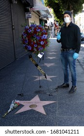 LOS ANGELES - MAR 21: US actor Paul Louis Harrell at the star of Kenny Rogers on the Hollywood Walk of Fame on March 21, 2020 in Los Angeles, CA. Rogers died late Friday at the age of 81.