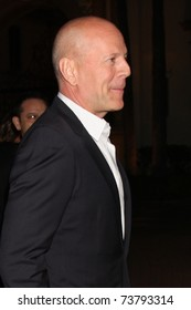 """LOS ANGELES - MAR 22:  Bruce Willis arrives at the HBO's """"His Way"""" Los Angeles Premiere at Paramount Theater on March 22, 2011 in Los Angeles, CA"""