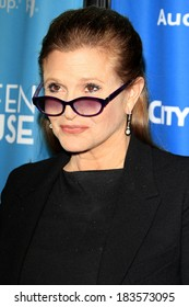 LOS ANGELES - MAR 22:  Carrie Fisher at the Backstage At The Geffen Gala at Geffen Playhouse on March 22, 2014 in Westwood, CA