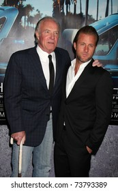 """LOS ANGELES - MAR 22:  James Caan and Scott Caan arrive at the HBO's """"His Way"""" Los Angeles Premiere at Paramount Theater on March 22, 2011 in Los Angeles, CA"""