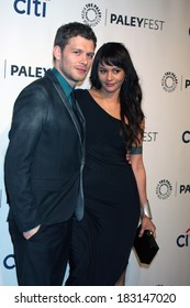 """LOS ANGELES - MAR 22:  Joseph Morgan, Persia White at the PaleyFEST 2014 - """"The Vampire Diaries"""" & """"The Originals"""" at Dolby Theater on March 22, 2014 in Los Angeles, CA"""
