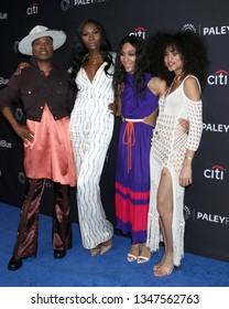 """LOS ANGELES - MAR 23:  Billy Porter, Dominique Jackson, Mj Rodriguez, Indya Moore at the PaleyFest - """"Pose"""" Event at the Dolby Theater on March 23, 2019 in Los Angeles, CA"""