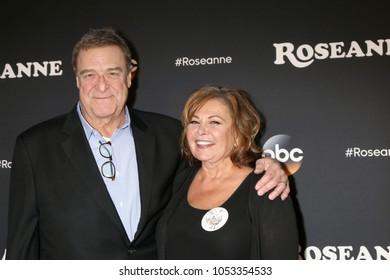 "LOS ANGELES - MAR 23:  John Goodman, Roseanne Barr at the ""Roseanne"" Premiere Event at Walt Disney Studios on March 23, 2018 in Burbank, CA"