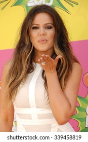 LOS ANGELES - MAR 23 - Khloe Kardashian arrives at the Nickelodeons 2013 Kids Choice Awards on March 23,  2013 in Los Angeles, CA