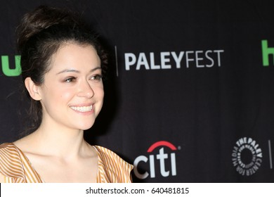 """LOS ANGELES - MAR 23:  Tatiana Maslany at the 34th Annual PaleyFest Los Angeles - """"Orphan Black"""" at Dolby Theater on March 23, 2017 in Los Angeles, CA"""
