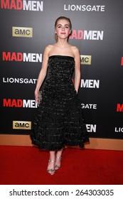 LOS ANGELES - MAR 25:  Kiernan Shipka at the Mad Men Black & Red Gala at the Dorthy Chandler Pavillion on March 25, 2015 in Los Angeles, CA