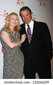 LOS ANGELES - MAR 26:  Melody Thomas Scott, Eric Braeden attends the 40th Anniversary of the Young and the Restless Celebration at the CBS Television City on March 26, 2013 in Los Angeles, CA