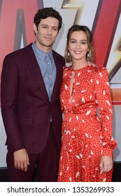 """LOS ANGELES - MAR 28:  Adam Brody, Leighton Meester at the """"Shazam"""" Premiere at the TCL Chinese Theater IMAX on March 28, 2019 in Los Angeles, CA"""