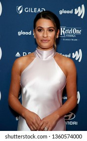LOS ANGELES - MAR 28:  Lea Michele at the 30th Annual GLAAD Media Awards at the Beverly Hilton Hotel on March 28, 2019 in Los Angeles, CA