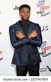LOS ANGELES - MAR 3:  Chadwick Boseman at the 2018 Film Independent Spirit Awards at the Beach on March 3, 2018 in Santa Monica, CA