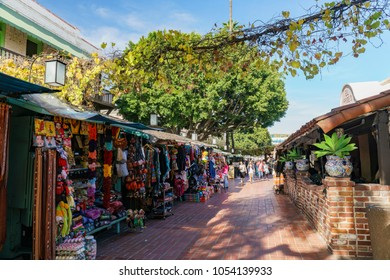 Los Angeles, MAR 3: The famous Olvera Street in downtown on MAR 3, 2018 at Los Angeles