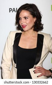 """LOS ANGELES - MAR 3:  Lana Parrilla arrives at the  """"Once Upon A Time"""" PaleyFEST Event at the Saban Theater on March 3, 2013 in Los Angeles, CA"""