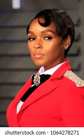 LOS ANGELES - MAR 4:  Janelle Monae at the 24th Vanity Fair Oscar After-Party at the Wallis Annenberg Center for the Performing Arts on March 4, 2018 in Beverly Hills, CA
