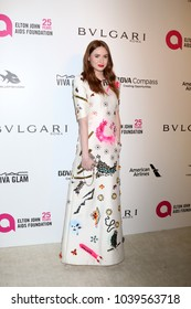 LOS ANGELES - MAR 4:  Karen Gillan at the 2018 Elton John AIDS Foundation Oscar Viewing Party at the West Hollywood Park on March 4, 2018 in West Hollywood, CA