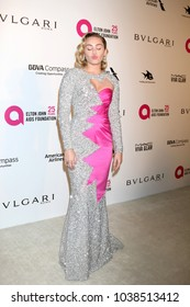 LOS ANGELES - MAR 4:  Miley Cyrus at the 2018 Elton John AIDS Foundation Oscar Viewing Party at the West Hollywood Park on March 4, 2018 in West Hollywood, CA