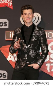 LOS ANGELES - MAR 5:  Shawn Mendes at the 2017 iHeart Music Awards at Forum on March 5, 2017 in Los Angeles, CA
