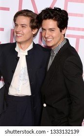 "LOS ANGELES - MAR 7:  Dylan Sprouse, Cole Sprouse at the ""Five Feet Apart"" Premiere at the Bruin Theater on March 7, 2019 in Westwood, CA"
