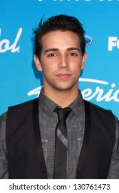 """LOS ANGELES - MAR 7:  Lazaro Arbos arrives at the 2013 """"American Idol"""" Finalists Party at the The Grove on March 7, 2013 in Los Angeles, CA"""