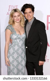 "LOS ANGELES - MAR 7:  Lili Reinhart, Cole Sprouse at the ""Five Feet Apart"" Premiere at the Bruin Theater on March 7, 2019 in Westwood, CA"