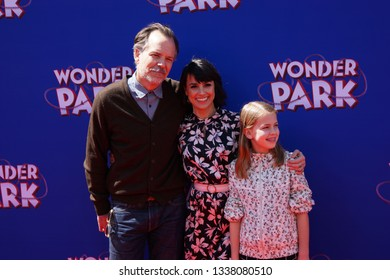 LOS ANGELES, March 10th, 2019: Russ Lamoureux and Constance Zimmer attend the U.S. premiere of Wonder Park at the Regency Village Theatre in Westwood, California.