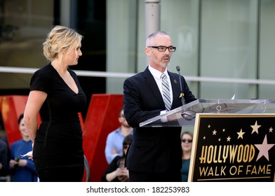 LOS ANGELES - March 17: Guests speaking at Kate Winslet's star receiving ceremony at Hollywood Blvd on March 17, 2014 in Los Angeles, CA.