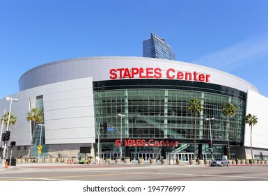 LOS ANGELES - MARCH 17: Staples Center located in Los Angeles, California on March 17, 2014. Staples Center is a multi-purpose arena in downtown Los Angeles and is home to multiple pro sports teams.