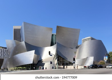 LOS ANGELES - MARCH 17: The Walt Disney Concert Hall located in Los Angeles, California on March 17, 2014. The concert hall is part of the Los Angeles Music Center and was designed by Frank Gehry.