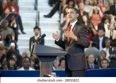 LOS ANGELES - MARCH 19: President Barack Obama speaks at a town hall meeting at the Miguel Contreras Learning Center on March 19, 2009 in Los Angeles.